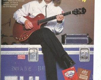 1994 Advertisement Martin Barre GHS Guitar Strings Jethro Tull Tough Act To Follow Celebrity Musician Studio Store Rock Music Wall Art Decor