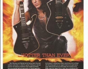 1995 Advertisement Paul Stanley Ibanez PS10 Guitars KISS Player Rock 70s Electric CelebrityMusician Studio Store Rock Music Wall Art Decor