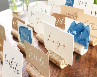 Glitter Wine Cork Place Card Holder for Wine Theme Wedding, Wedding Table Number Holder, Place Card Holders, Gold Glitter Wedding Decor