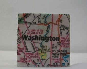 Washington DC Map Magnets / Refrigerator Magnets  /  Washington DC Map Magnet  /  Fridge Magnets  / Magnet for Home, School, or Office
