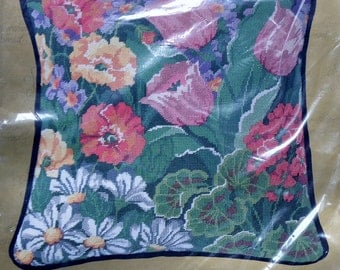 Something Special Needlepoint Kit MIXED FLORAL PILLOW By Candamar Botanicals Flowers