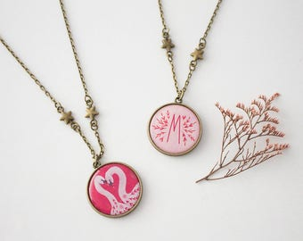 Reversible Initial Necklace, Bridesmaids Personalized Necklace, Mothers Day Gift, Monogram Necklace, Bridesmaid Gift, Initial Letter Charm