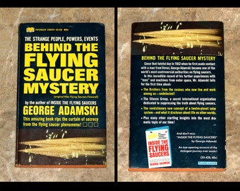 Behind the Flying Saucer Mystery - Vintage 1967 UFO Paperback - George Adamski 1st Ed - Alien Abduction, Secret Organizations, etc...
