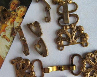 12 Vintage Fold Over Clasp
