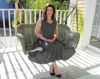 SALE with Coupon Code-Vintage 1950's Atomic Print Party Dress