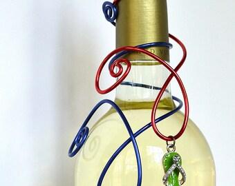 Beach flip Flop Summer or Golf Wine Bottle Decoration or Hostess Gift