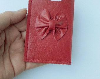 Leather business card holder, card holder, credit card sleeve, card wallet, Oyster card sleeve