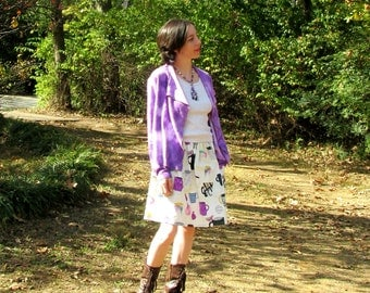 S. Audrey jacket in plum bamboo fleece fabric. Many ways to wear it! Soft and cozy.