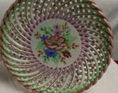 Vintage Lattice Plate Goodfriend Made in Spain Multi Color