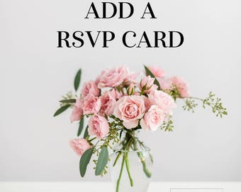 Add a Printed Rsvp Card to Your Order