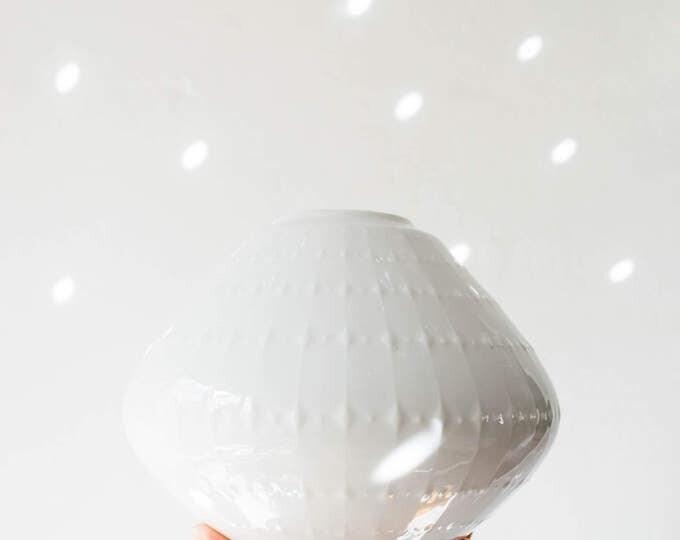 Mid Century Modern Glazed White Porcelain Vase Edelstein West Germany // Bohemian Home Decor