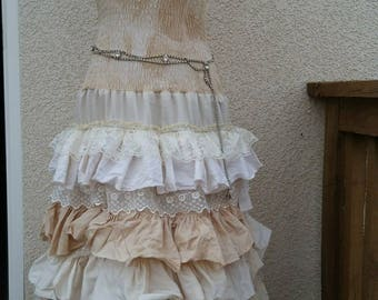 "Old World style ruffled dress: ""KoKo"" / boho, bohemian, Coachella, Ibiza, Mori Mori, Wedding, Made to Order"