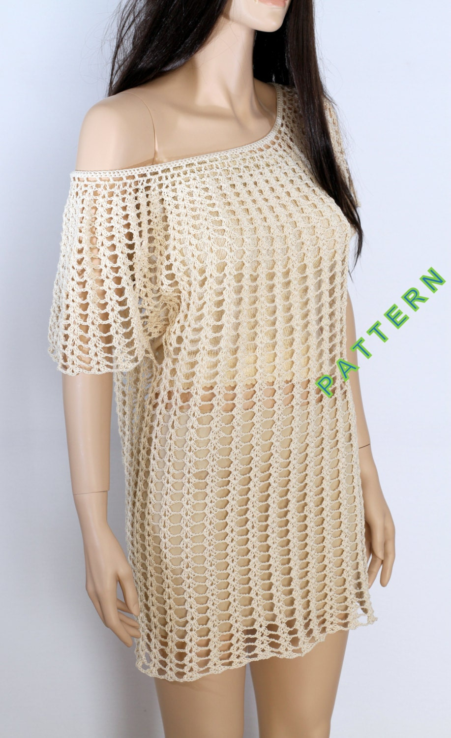 Free Crochet Tunic Pattern For Beginners : Crochet Summer Tunic Pattern Crochet Top Pattern Crochet