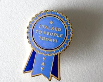 Introvert Award Enamel Lapel Pin