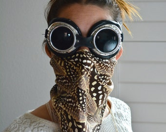 Silk Feather Print Face Mask/ Dust Mask/ Burning Man Mask/ Festival Mask/ Festival Face Mask/ Silk Mask