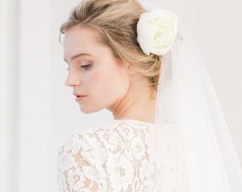 Silk flower peony wedding hair pin,  Flower hair pin