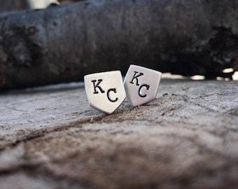 KC Royals Stud Earrings, Kansas City Jewelry, Kansas City Royals Jewelry, Baseball Earrings