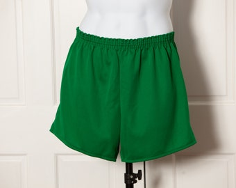 Deep Green Lightweight Athletic Running Shorts - L