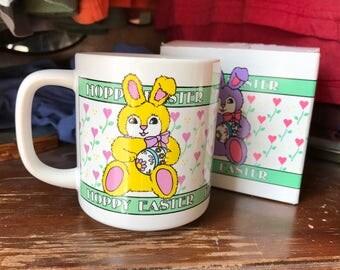 Vintage 80s 90s HOPPY EASTER Bunny Mug