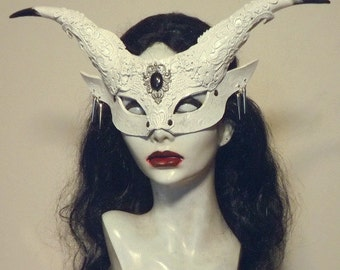 White Satyr Witch mask