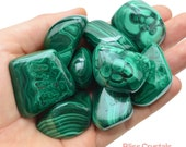 1 Jumbo MALACHITE Tumbled Stone Healing Crystal and Stone for Protection Memory Health Reiki Wicca Green Stone #MT06