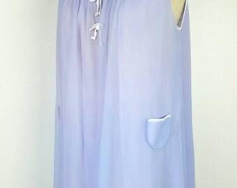 Lavender 60s Mod Mini Babydoll Nightie - Large
