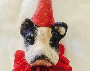 Spun cotton puppy dog ornament a OOAK vintage craft ornament by jejeMae