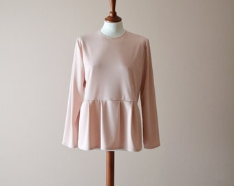 Blush pink long sleeve tshirt, pink tunic top, Pink blouse, Pink shirt, Boho top, womens tunic, pink top, womens top, spring top, cute top