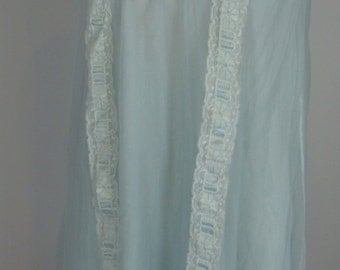 powder blue VINTAGE FLOAT NIGHTGOWN 1960's 1970's S