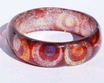 GLITTER BANGLE - Pretty vintage 80s glitter bangle - multi colored vintage glitter bangle - pretty vintage glitter bangle