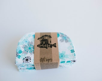 Cloth Diaper Wipes - Family Cloth - Soft  Baby Wipes Cloth Wipes Set of 20 Baby Wipes - Reusable Flannel Wipes (Pretty Flowers)