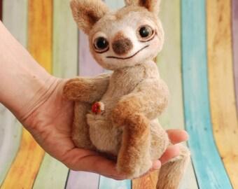 Elsie - kangaroo! Stuffed kangaroo, teddy kangaroo, handmade kangaroo