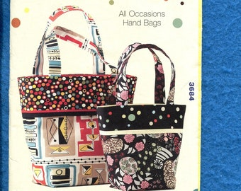 Kwik Sew 3684 Tote Bags in Two Sizes UNCUT