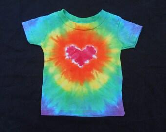 Rainbow Heart Baby 6 Month Tie Dye Shirt #125