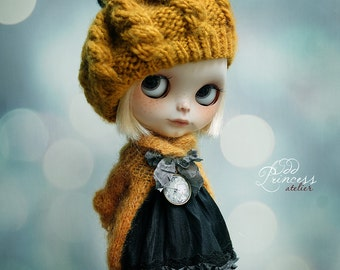 Blythe/Pullip Ooak Hat EVENING IN PARIS, New Collection By Odd Princess Atelier, Shabby Chic, Vintage, Special Outfit
