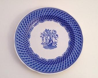 Blue and White Spode Dinner Plate, Portland Vase, 90s, Blue Transferware
