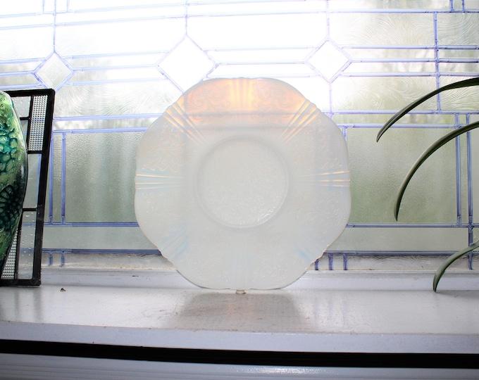 Monax Depression Glass Platter American Sweetheart Cake Plate Salver
