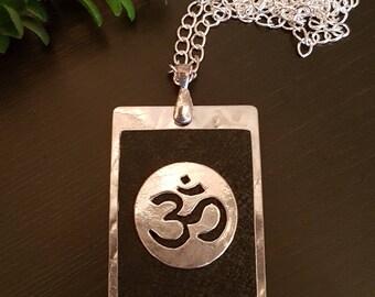 Om Necklace in Black