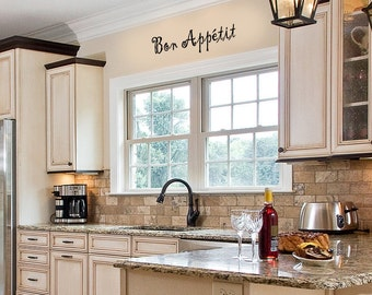 Family Wall Quotes Decal - Bon Appetit - KITCHEN Vinyl Wall Art -  Family Wall sayings
