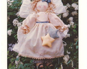 """1988 - Finders Keepers Vintage Sewing Pattern Addy 15"""" Country Angel Doll Decoration Christmas Clothes Stuffed Gift Uncut"""