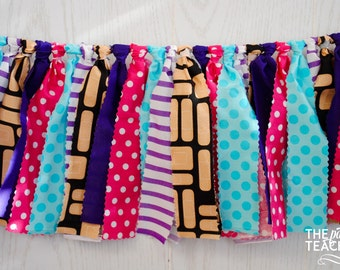 Doc McStuffins Fabric Bunting - FREE Shipping - Doc McStuffins Bunting - Doc McStuffins Garland - Doc McStuffins Banner - Doctor Party