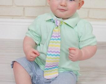 Baby boys tie, Baby Easter Tie, Boys Tie, Boys Easter,Easter Tie, Boys Easter Tie, Chevron Tie, Boys Easter, Baby Easter, Baby Boys Easter,