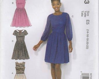 Sweet Dress Pattern McCalls 7083 Sizes 14 - 22 Uncut