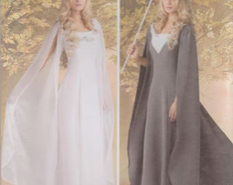 Medieval Fantasy Gown Pattern Simplicity 1551 Sizes 16 - 24 Uncut