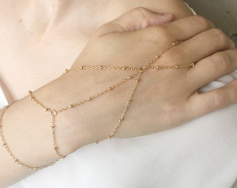 gold slave bracelet, gold hand chain, gold ring bracelet, gold slave bracelet, ring bracelet, slave ring, gold hand piece