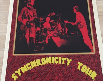 The Police, Synchronicity Tour Concert Poster Repro, cool vintage  Alternative Rock Art