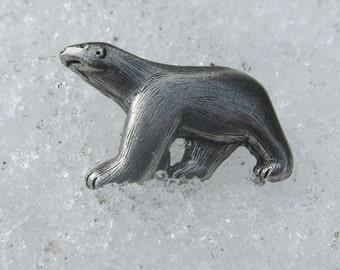 Polar Bear Lapel Pin- CC580- Wildlife Pins- Arctic Animals
