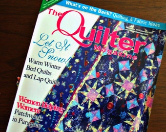 The Quilter Magazine-December 2011/January 2012-15 Projects-97 Pages-Great Tips & Articles-Mostly Intermediate Skill Level-A Couple Beginner