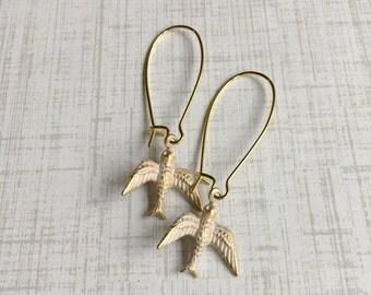 Swallow Bird Sparrow Earrings