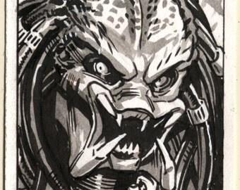 Predator Inktober Sketch